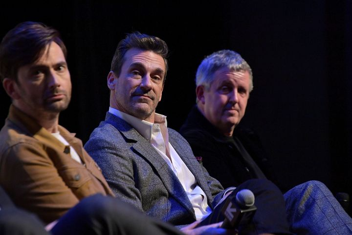 David Tennant, Jon Hamm and the show's director Douglas Mackinnon
