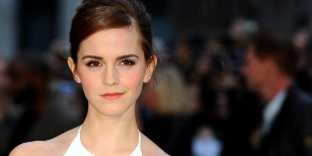 LONDON, ENGLAND - MARCH 31: Emma Watson attends the UK premiere of 'Noah' at Odeon Leicester Square on...