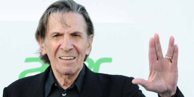 HOLLYWOOD, CA - MAY 14:  Actor Leonard Nimoy attends the premiere of 'Star Trek Into Darkness' at Dolby Theatre on May 14, 2013 in Hollywood, California.  (Photo by Jason LaVeris/FilmMagic)