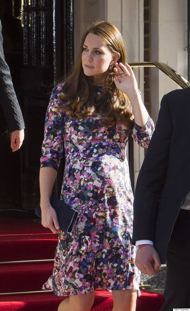 Kate Middleton's Bump Pops In Floral Erdem