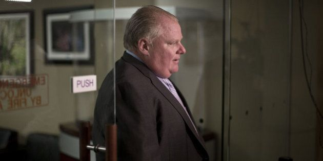 TORONTO, ON - AUGUST 27: Mayor Rob Ford left his office for council chambers Wednesday afternoon.Toronto...