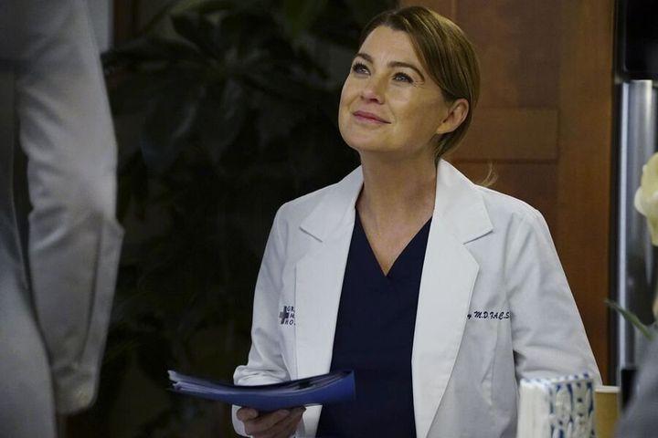 "Ellen Pompeo as Meredith Grey in ""Grey's Anatomy"""