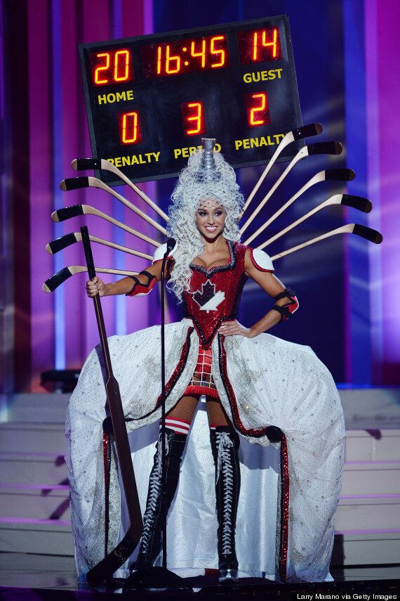 Miss Universe Canada's National Costume Is A Hockey-Inspired