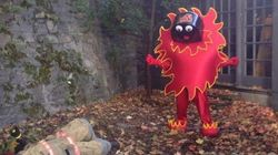 Meet The Calgary Flames' Minor League Mascot. He's Morbid And