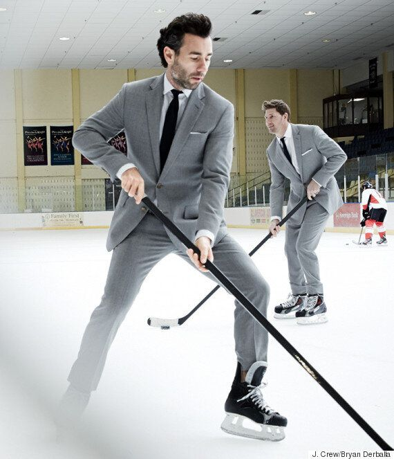 J. Crew's 'Crosby Suit' Tested On A Real Hockey