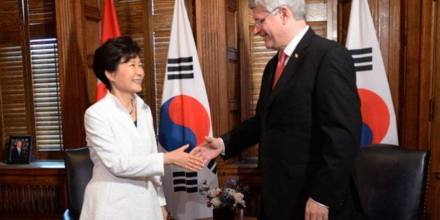 Harper Meets With South Korean President In Wake Of Trade