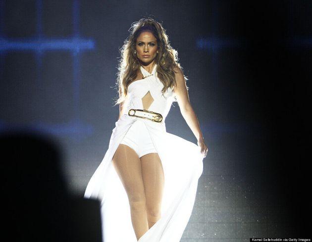 Jennifer Lopez Wears An Enormous Safety Pin, Is
