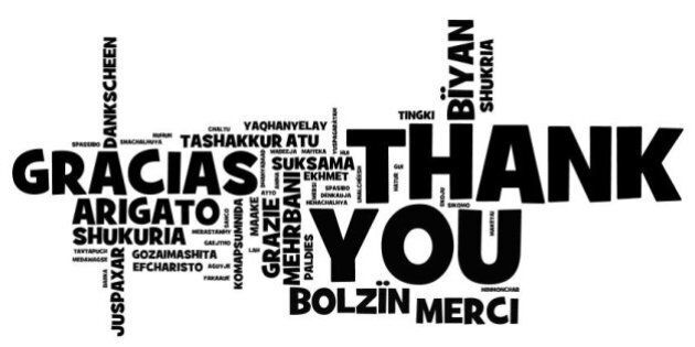 thank you note created in many languages via wordl let me know if I missed your language and I'll update...