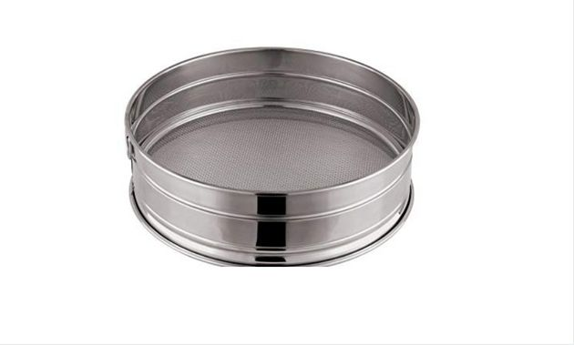 Candace Nelson uses this drum sieve to sift powdered