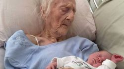 Centenarians Holding Great-Great Grandbabies Will Warm Your