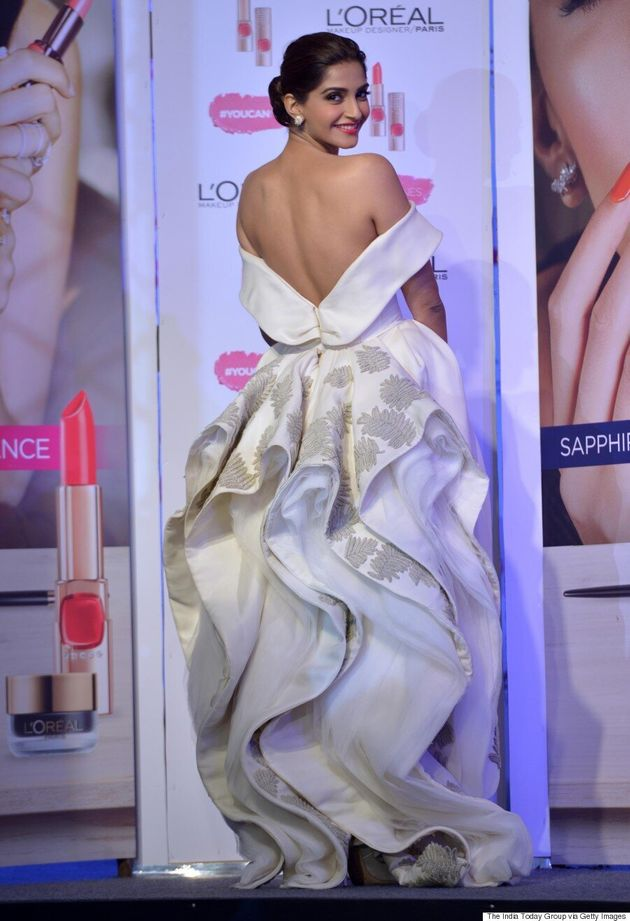 Sonam Kapoor Stuns In White Dress At L'Oreal Paris