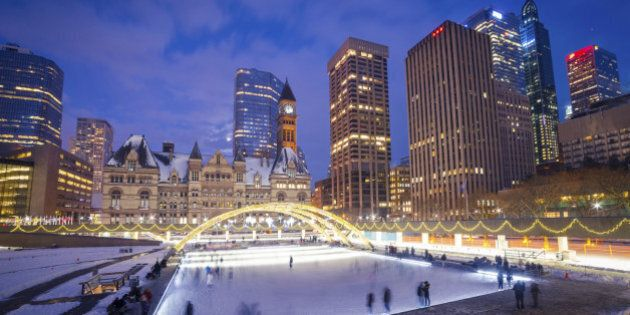 Nathan Phillips Square in Toronto,