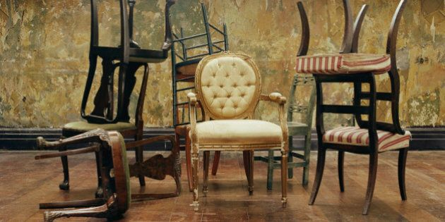 Assorted antique chairs,