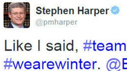 Harper's Hockey Tweet Among Most Popular From World