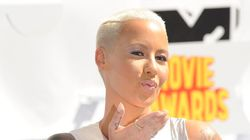 Amber Rose Rocks Caged Bodysuit In