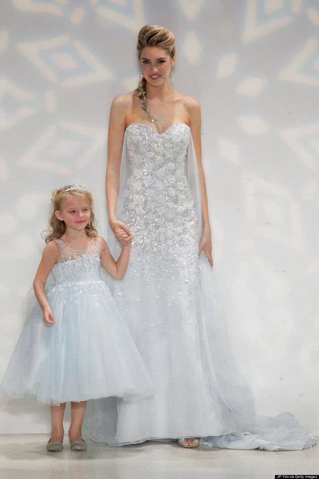 'Frozen' Elsa Wedding Dress Is Perfect For A Princess