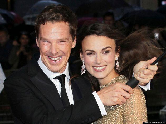 Benedict Cumberbatch, Keira Knightley Brave A Rainy Red