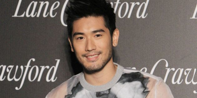 SHANGHAI, CHINA - OCTOBER 23: (CHINA OUT) Actor Godfrey Gao attends Lane Crawford flagship store opening...