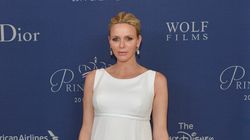 Pregnant Princess Charlene Glows In White