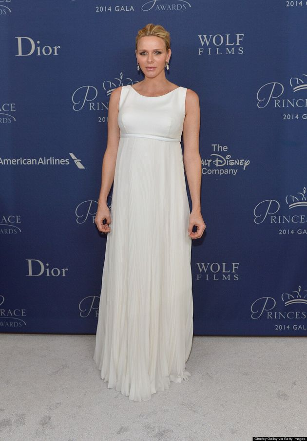 Princess Charlene Of Monaco Glows In Ethereal White