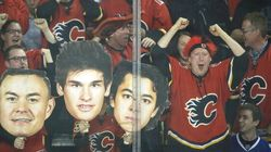 Police Ready For Flames And Canucks