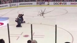 Hockey Fan Releases A KRAKEN At Red Wings
