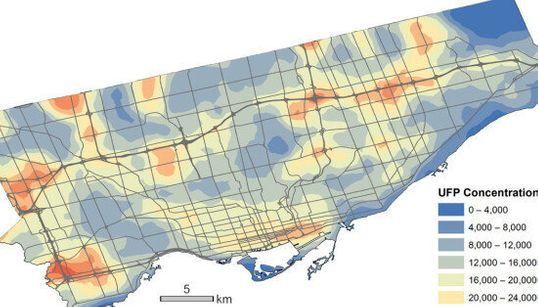 This Map Shows Where Toronto's Air Is At Its