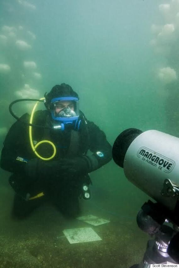 Mike Irvine, B.C. Masters Student, Defends Thesis Underwater (PHOTOS,