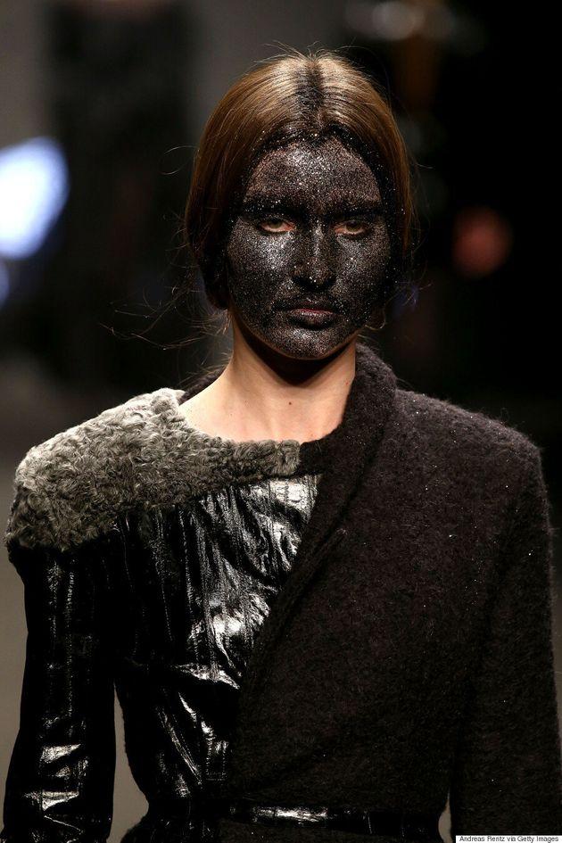 Models Wear Sparkly Blackface On The Runway At Milan Fashion