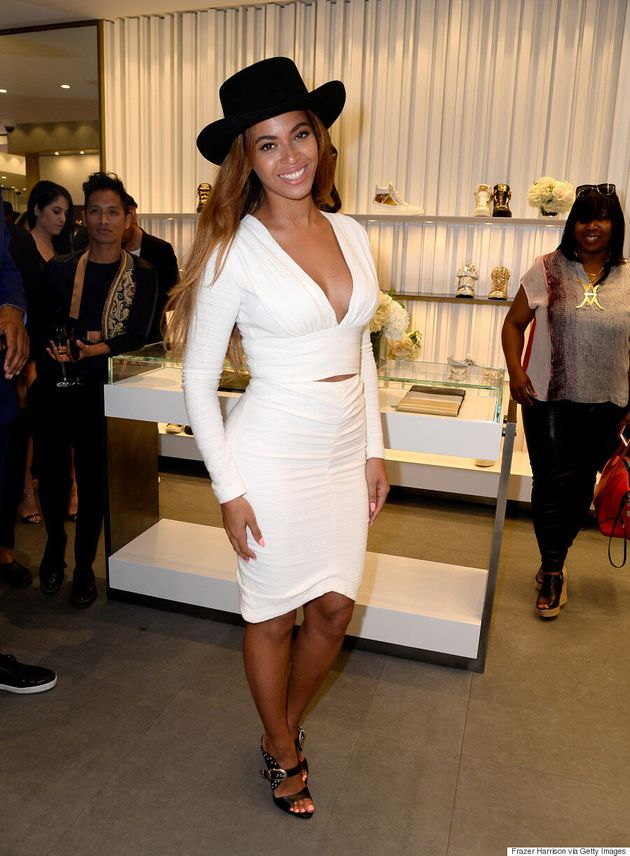 Beyonce Is White Hot In Bec & Bridge For Giuseppe Zanotti Store