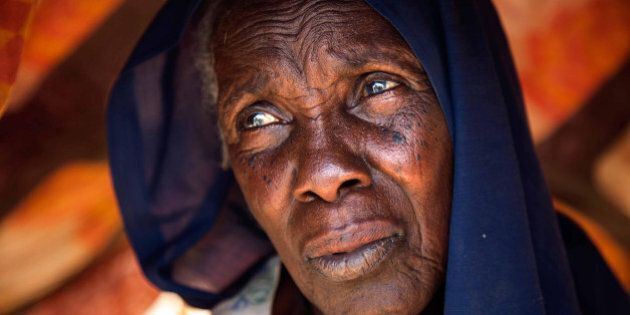 DARFUR, SUDAN - MARCH 10: A Sudanese woman in refugee camps as South Sudanese fled to Kalma and Al Salam...