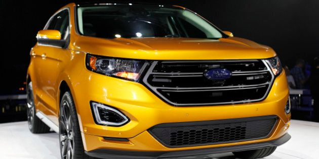 DEARBORN, MI - JUNE 24: Ford Motor Company introduces the 2015 Ford Edge at the Ford Community and Performing...