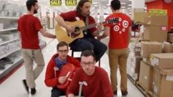 ► B.C. Target Staffers' 'Closing Time' Rendition Goes