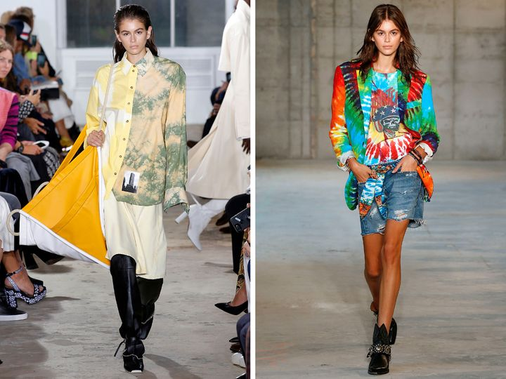 Left: Proenza Schouler spring/summer 2019; right: R13 spring/summer 2019