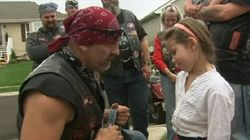 Burly Bikers Escort Victims Of Child Abuse To