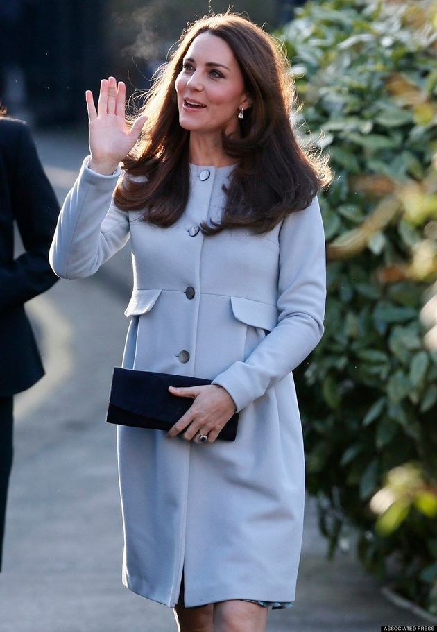 Kate Middleton's Blue Coat Sparks Baby Boy