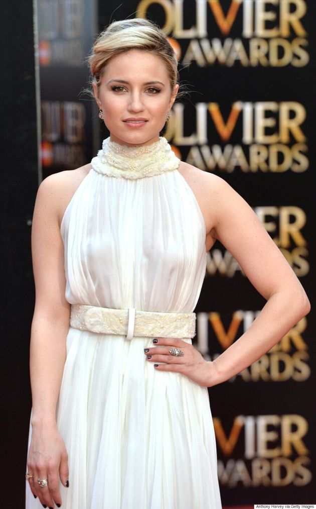 Dianna Agron Wows In Alexander McQueen At Olivier