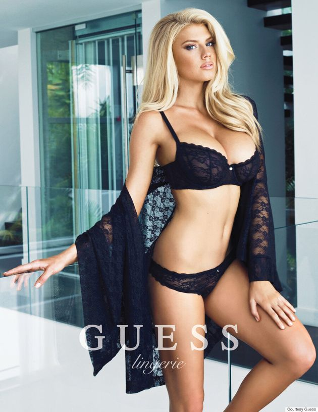 Charlotte McKinney Gives Victoria's Secret A Run For Its Money In Guess Swimwear And Lingerie
