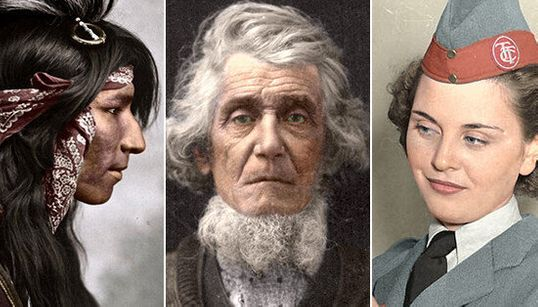 33 Colourized Photos That Make Canadian History Come To