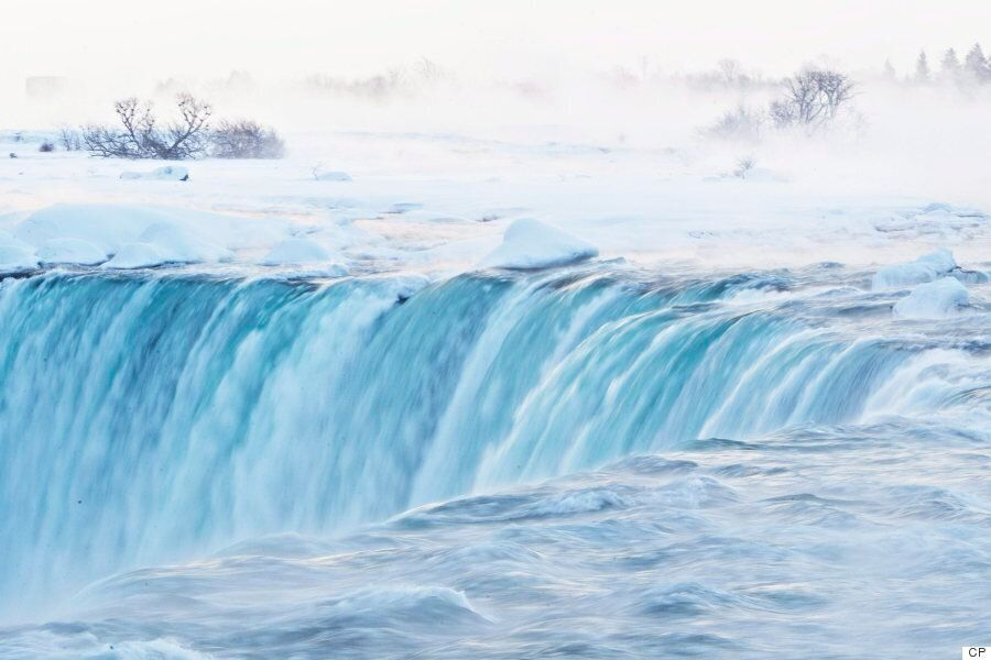 Niagara Falls Turns To A 'Frozen Rainbow' Amid The