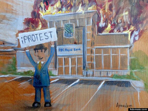 RBC Branch On Fire Painting Likely Won't Win RBC