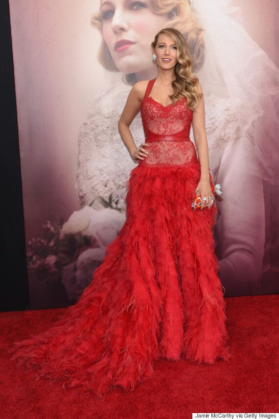 Blake Lively Stuns In Red Gown At 'Age Of Adaline'