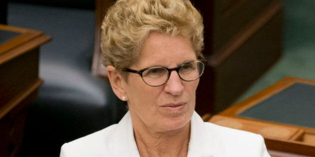 TORONTO, ON - JULY 3:  Toronto, On- July 3, 2014Premier Kathleen Wynne applauded the Speech from the Throne at the Ontario Legislature Thursday afternoon.        (Lucas Oleniuk/Toronto Star via Getty Images)