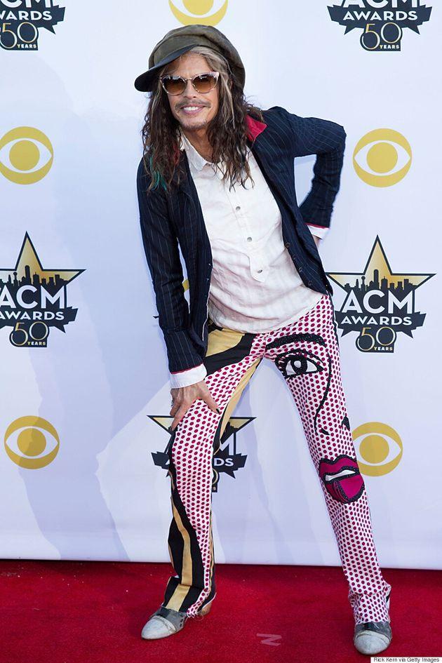 Steven Tyler's ACM Awards 2015 Pants Totally Stole The