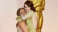 Jennifer Aniston And Emma Stone Win The Oscars Red