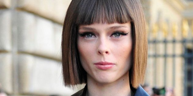 Canadian model Coco Rocha arrives at Dior's Spring/Summer 2015 ready-to-wear fashion collection presented...