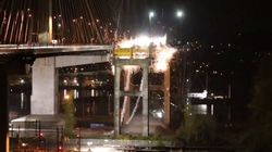 Old Port Mann Bridge Goes