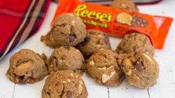 Making Caramel Peanut Butter Rocks For