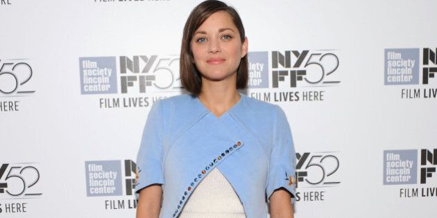 NEW YORK, NY - OCTOBER 05: Actress Marion Cotillard attends the 'Time Out Of Mind' premiere during the...