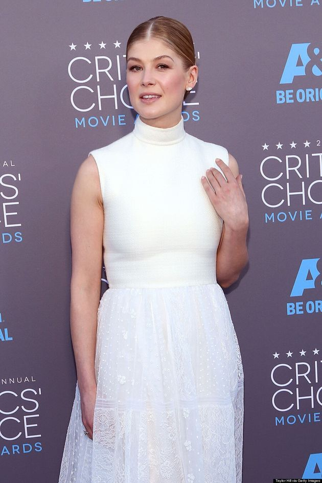 Rosamund Pike's Turtleneck Dress Will Be A Hot Trend In